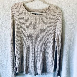 Cable & Gauge cotton/rayon cable knit sweater